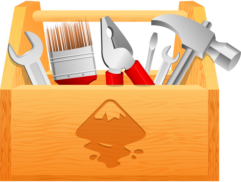 toolbox by Arya wigunavadhana - Inkscape toolbox with some tools inside