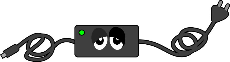 Charger Sad Eye Contact by qubodup - Made for a sign to remind people about bringing their power adapter http://qubodup.deviantart.com/art/0-429858347