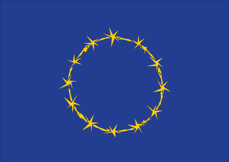 Flag of Fort Europe, EU by worker - The flag of Fort Europe, EU