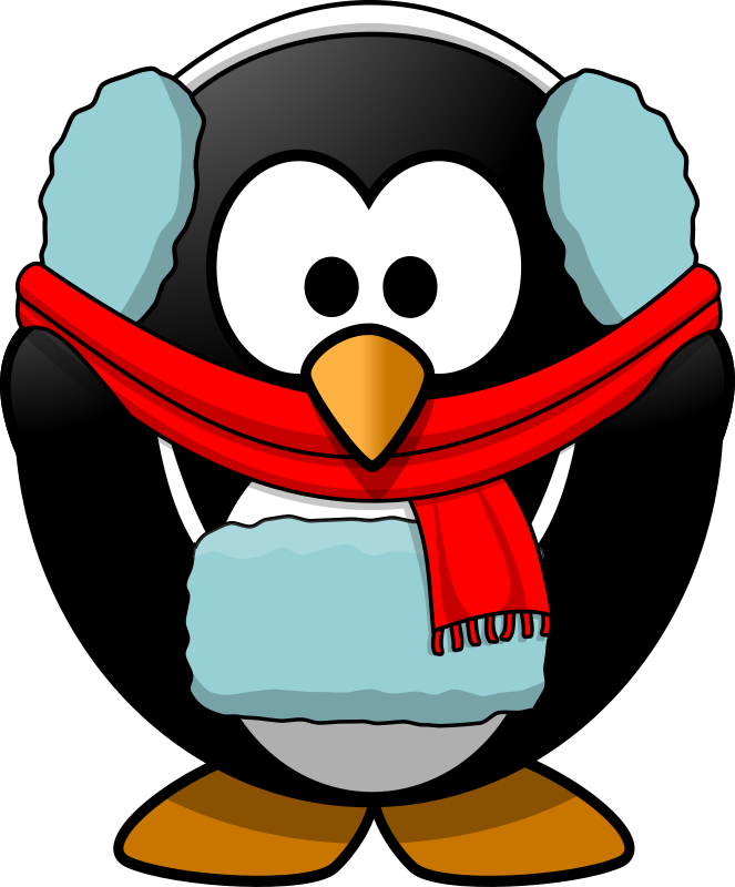 Clipart - Freezin' Penguin