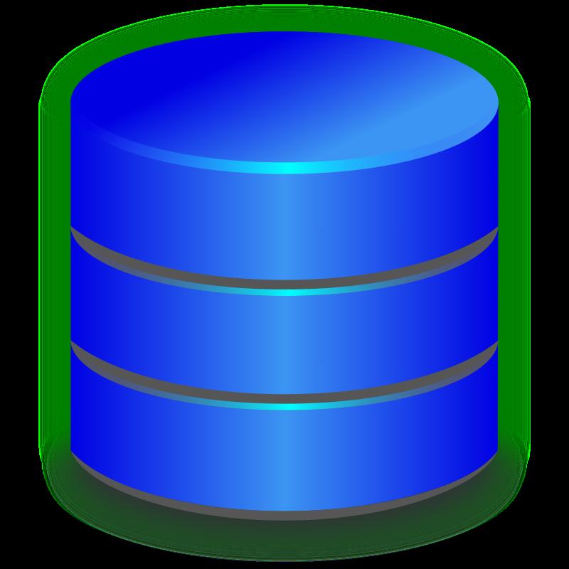 Clipart - Blue Database