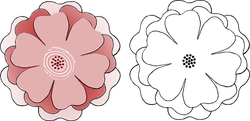 Clipart Flower Multi Choice 6 Petal S3 Template