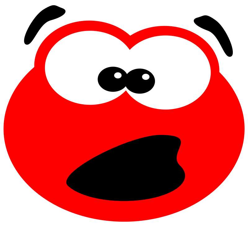 Blob surprised by svk-ab - A surprised little Blob. Made with Inkscape after reading a tutorial on 2DGameArtForProgrammers.