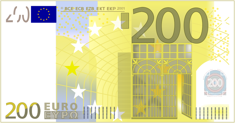 200 Euro Note by frankes