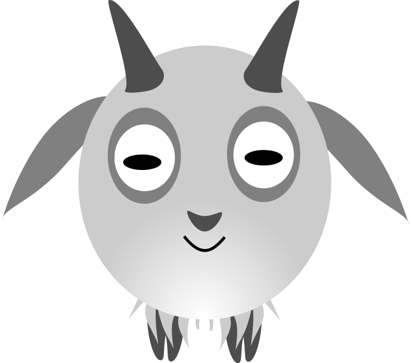 Chinese zodiac goat by dimalique - Goat character I created in Inkscape for a Chinese New Year program.