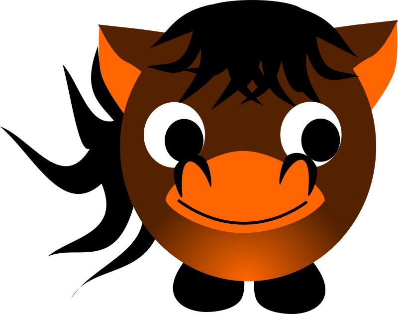 Chinese zodiac horse by dimalique - Horse character I created in Inkscape for a Chinese New Year program.