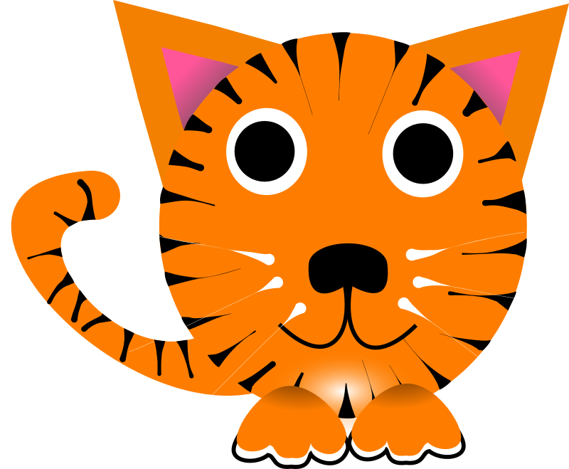 Tiger character i created in inkscape for a chinese new year program