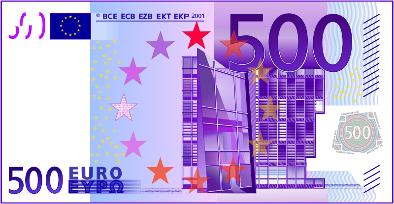 500 Euro Note by frankes - Five hundred Euro note.
