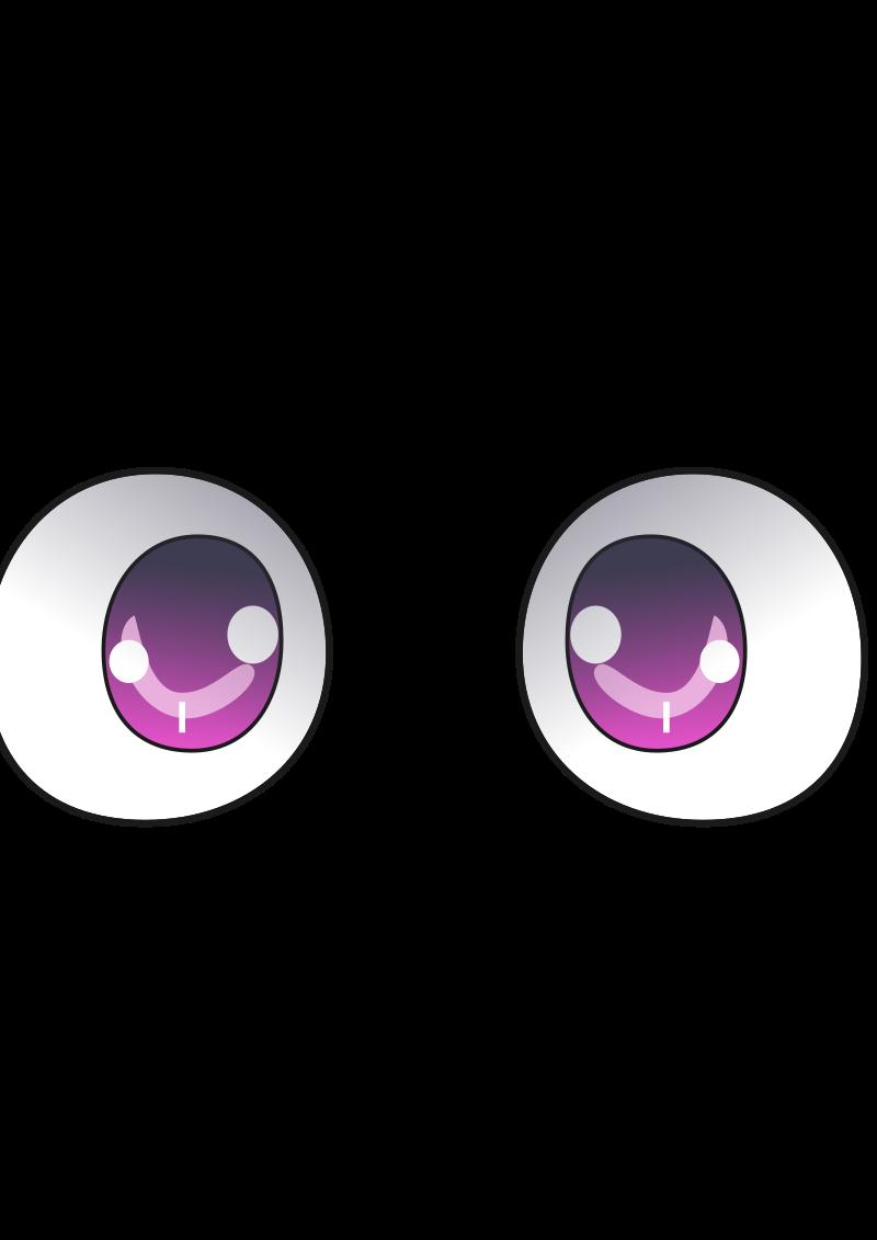 anime eyes clipart - photo #13