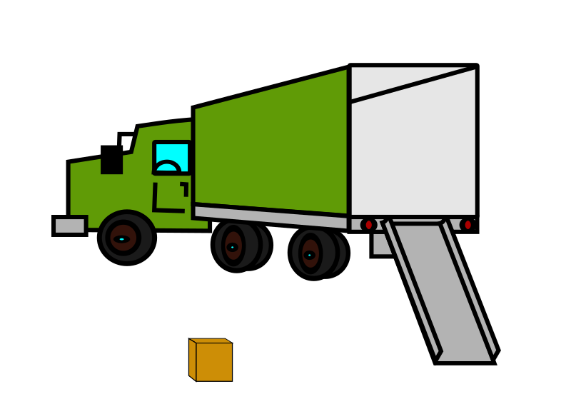 Clipart - opened empty moving truck