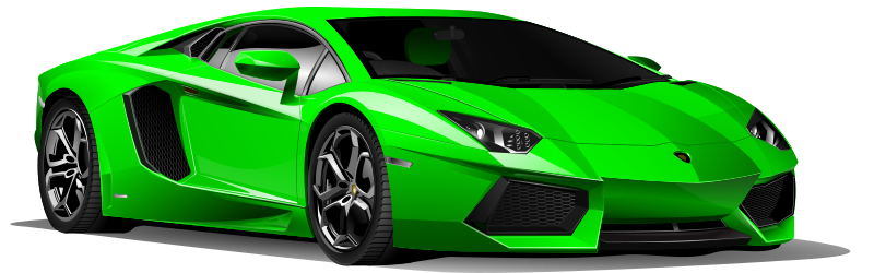 Car green by Keistutis
