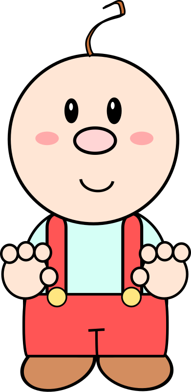 Cartoon baby by Dog99x - It is a cartoon of a boy in his first steps