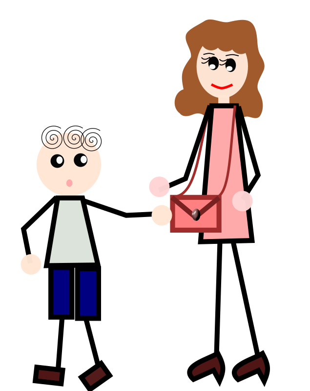 The boy is holding his mother's bag by loveandread