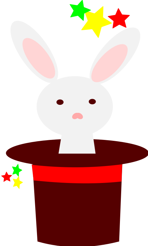 white rabbit in a hat by loveandread - white rabbit in a hat