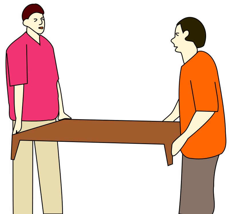 People are moving a table. by loveandread - People are moving a table.