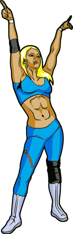 Female Professional Wrestler by jpneok - Female pro wrestler, Dinah Myte.