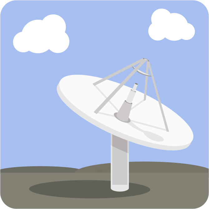 Clipart - Satellite Dish Base Station