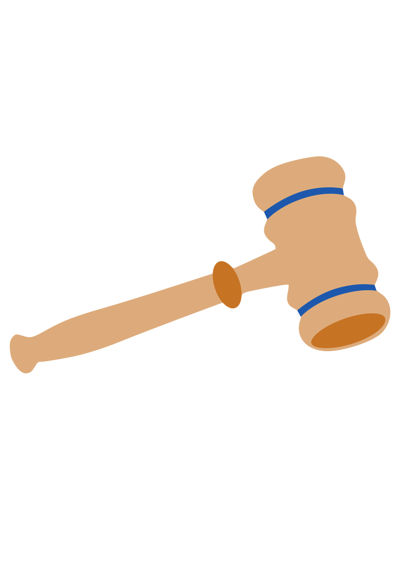 Gavel by DonegalBay - This is a gavel as used in a courtroom. It can be broken apart and all colors easily changed.  It can also be reduced to just a silhouette if need be.