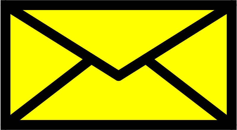 E-mail by Tibetan_Fox - Yellow envelope with black stroke