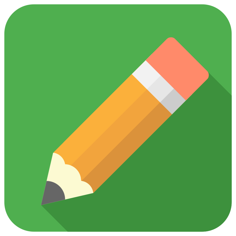 Pencil icon by williamtheaker - A pencil icon by Dylan Opet. Used with permission, original file available here: http://dribbble.com/shots/1290200--FREEBIE-Pencil-Icon