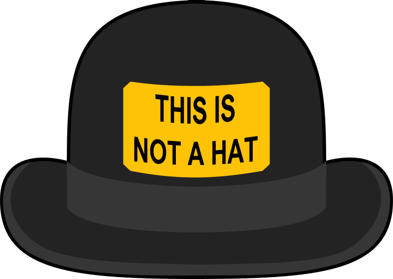 Bowler Hat by Schplook - Simple bowler hat with sign.