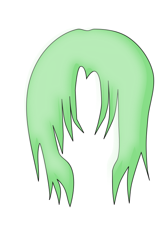 Anime Hair 3 by firestorm200 - A clip art of an anime hairdress