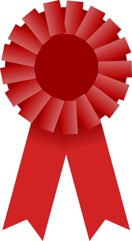 Award Ribbon -- Red by Mirek2 - An image of a red rosette