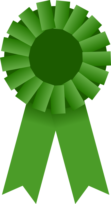 Award Ribbon -- Green by Mirek2 - An image of a green rosette