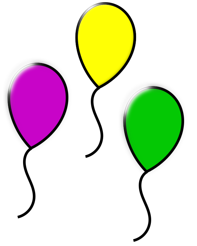 clipart colored balloons Balloon Clip Art Black and White Balloons Clip Art Transparent Background