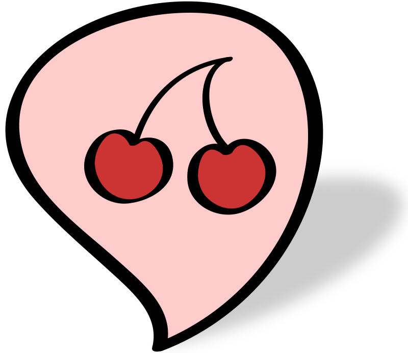 cherry by Martinfruity - A cloud talk with two cherrys