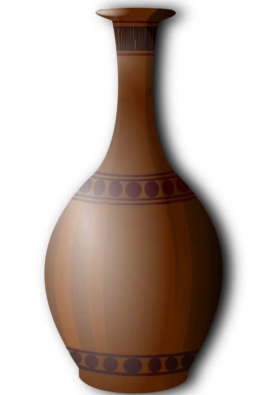 Brown vase clipart. by hatalar205