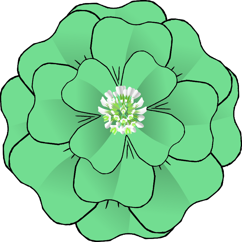 flower leaf clipart - photo #11