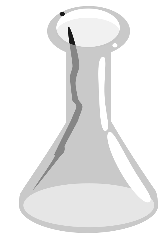 Erlenmeyerkolben by user unknown - Erlenmeyer flask with shadow and highlight effect on glass