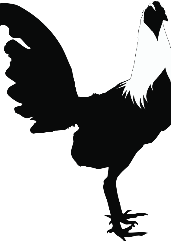Clipart - Rooster-Black&White