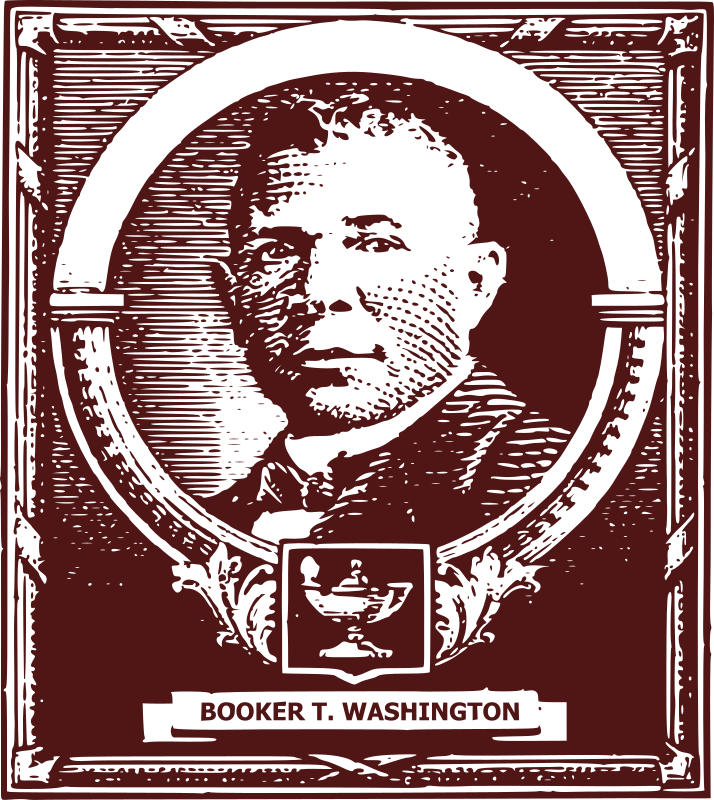 Booker T. Washington  by j4p4n - Booker T. Washington (1856 - 1915) was a famous African American and historical figure. An educator, public speaker and fighter for equality. This is based on an old public domain US 10 cent stamp.