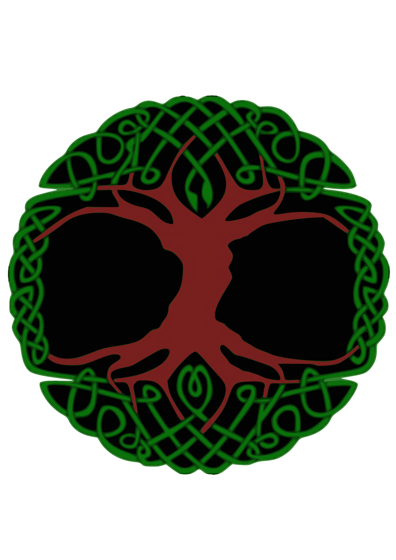 Celtic Tree by Siddymcbill - colored Celtic tree