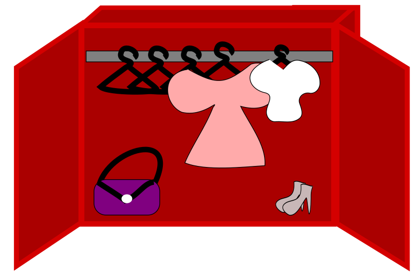 clothes, shoes and a bag in a closet by loveandread - clothes, shoes and a bag in a closet