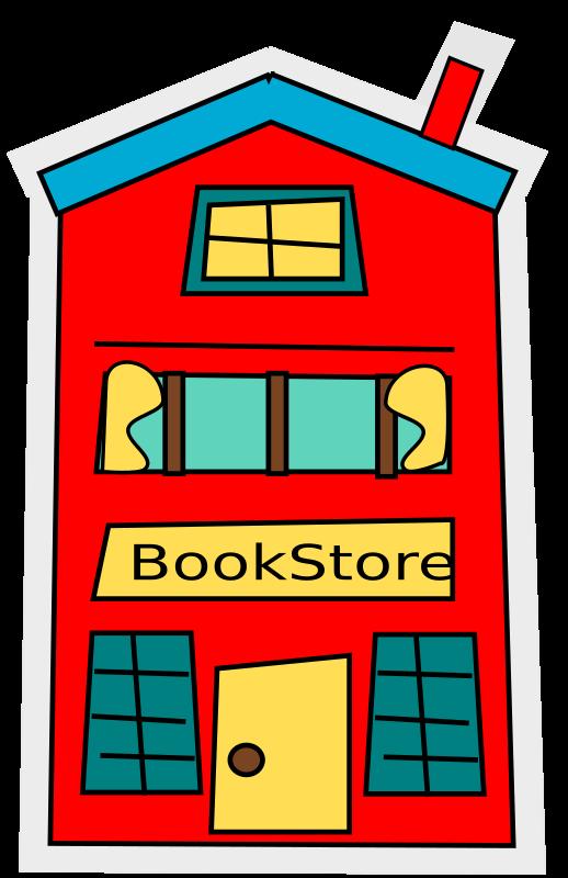clipart   cartoon bookstore building