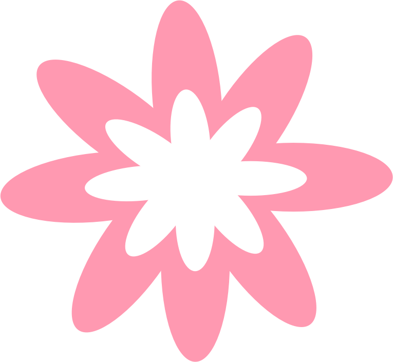 Pink Burst Flower by Scout