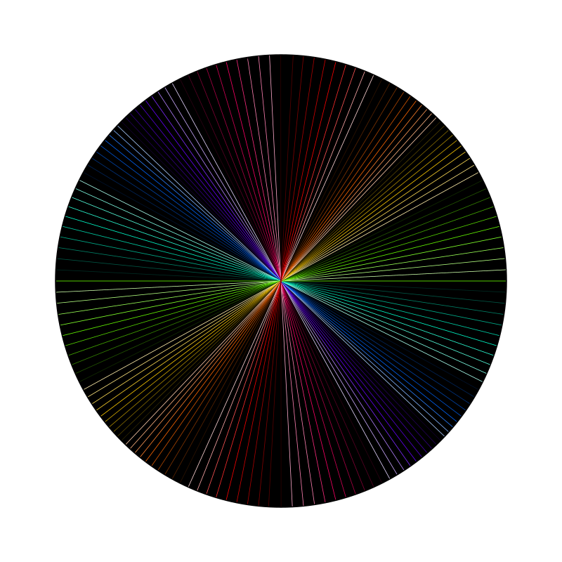 Rainbow line art by Siddymcbill - Different colored lines in a circle