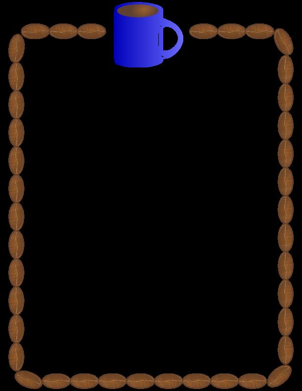 Coffee Bean Border ~ Clipart coffee beans