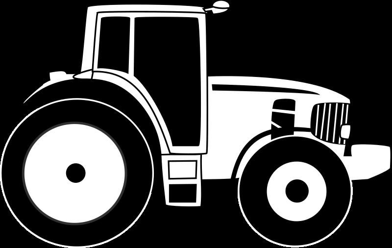 Farm Equipment Clip Art : Clipart farm tractor b w