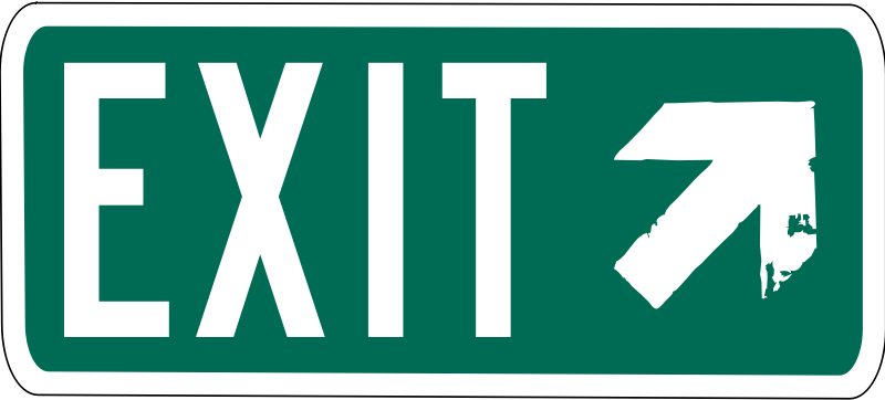 Interstate Exit by ColletonGIS - Generic interstate exit sign.