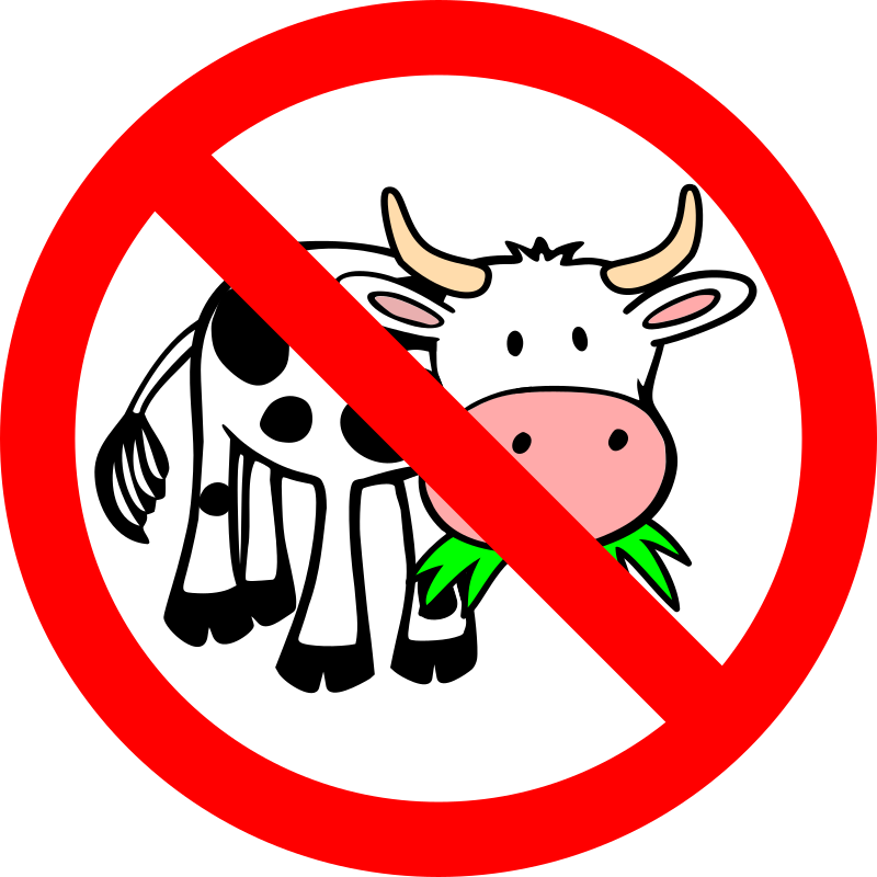 Ban Bessy by JCSalomon - A cute cow in comic style eating grass—banned