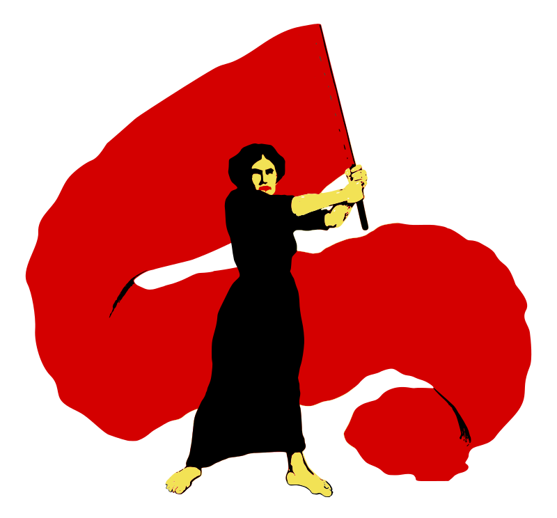 International Working Women's Day - Международный женский день by worker - The proletarian woman fights hand in hand with the man of her class against capitalist society.