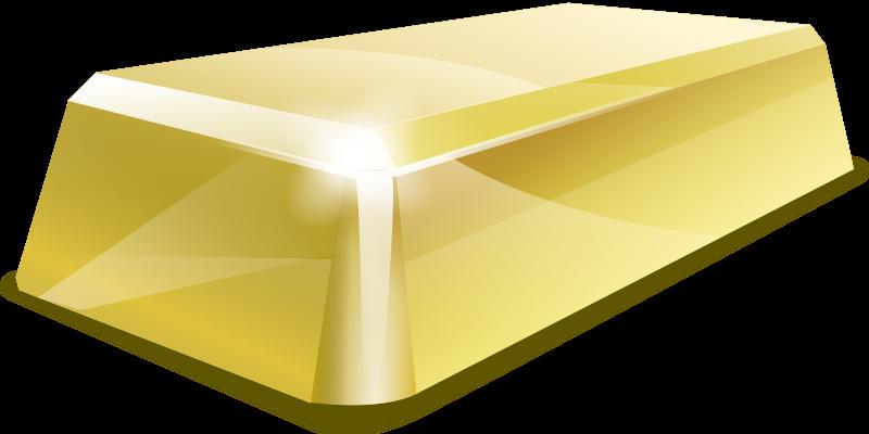 gold by hrum - A gold ingot.