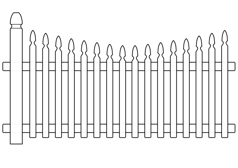White Picket Fence by ghosthand - Plaine white picket fence without shadows and shading.