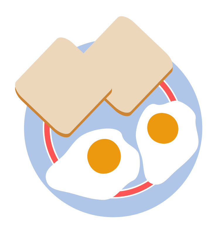 Bull's eye eggs and toast by agomjo