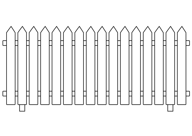 Clipart - White Picket Fence