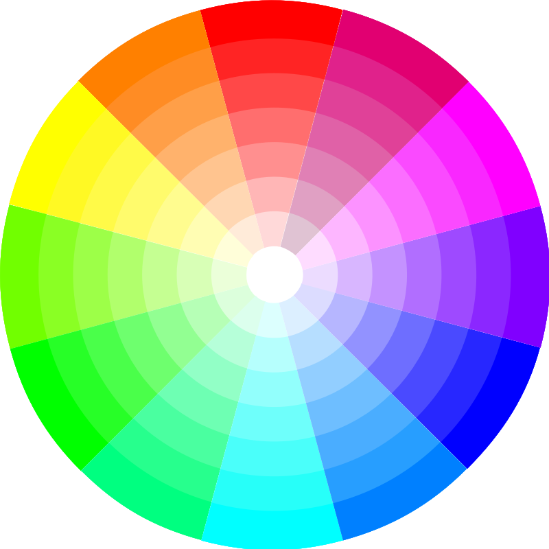 Color Wheel (12x7) by cinemacookie - The Hue and saturation color wheel with 84 colors.